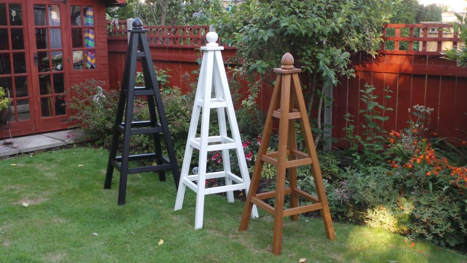 Enhancing your garden with feature obelisks.