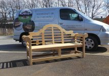 Testimonial from a happy customer when we supplied a Lutyens bench