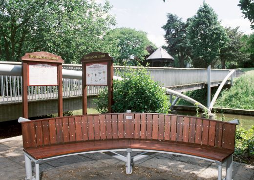 The Burma Star Bench in Cheshire