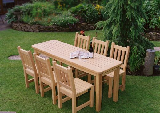 Bespoke Garden table with chairs