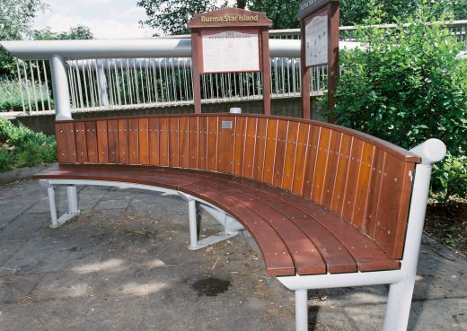 Our Burma Star bespoke bench in Queen's Park, Crewe
