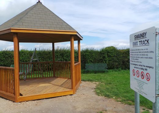 Play shelter almost installed