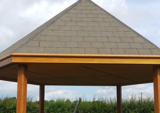 Roof of the play shelter