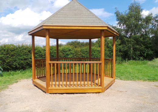 Wooden play shelter