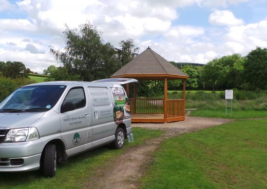 Installing the Swainby play shelter