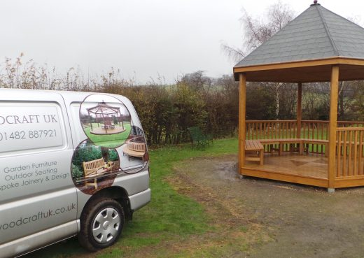 Woodcraft van and play shelter