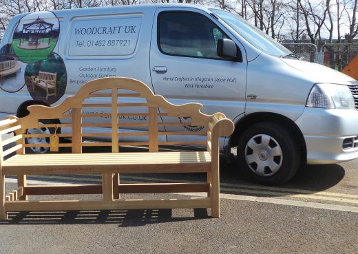 The Lutyens bench ready for delivery