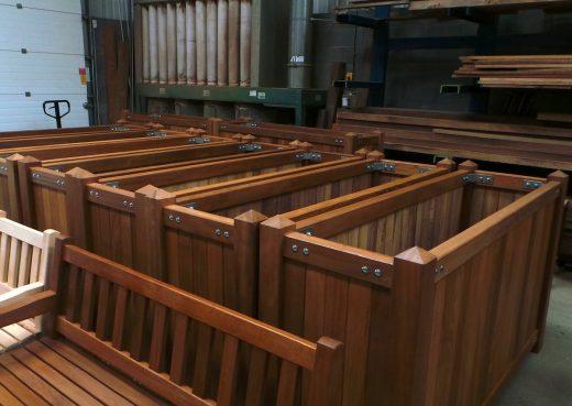 Wooden planters storage