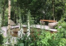 The Family Monsters Garden Bench is now installed at RHS Chelsea Flower Show