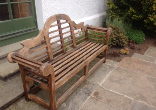 Vintage Lutyens Bench at Inverewe Gardens