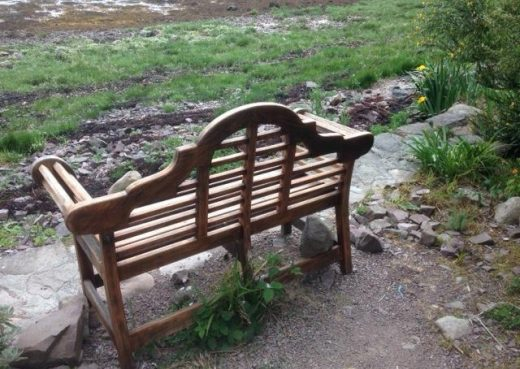 On the banks of Loch Ewe, our Lutyens bench