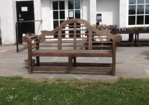 Weathering well our Lutyens bench