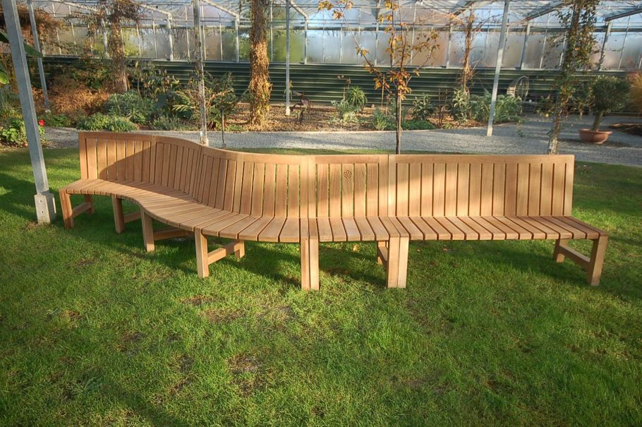 Our brand new Saltwick modular garden bench takes shape