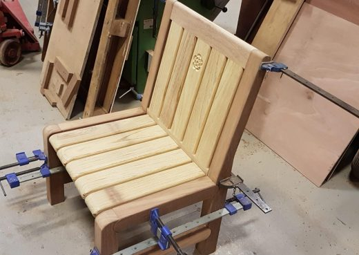 End or middle section designer garden chair