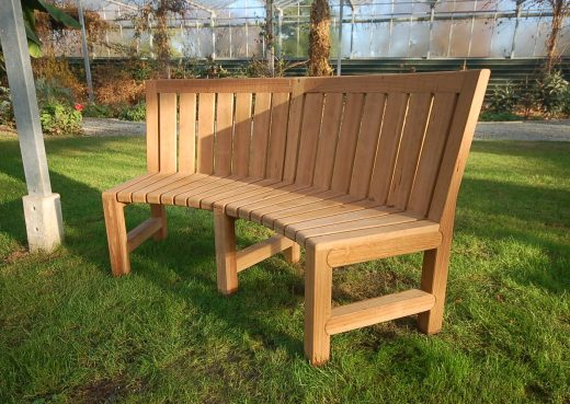 The Saltwick Concave bench side view