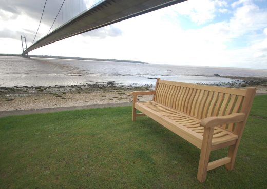 Scarborough Bench Under Humber Bridge