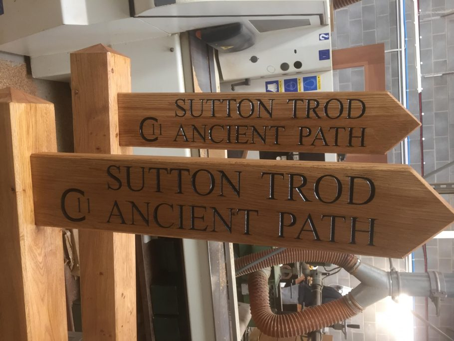 Wayfinding posts for Sutton Trod in Yorkshire