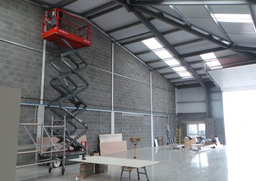 Constructing the new workshop