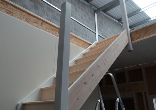 Stairs created for the upstairs office
