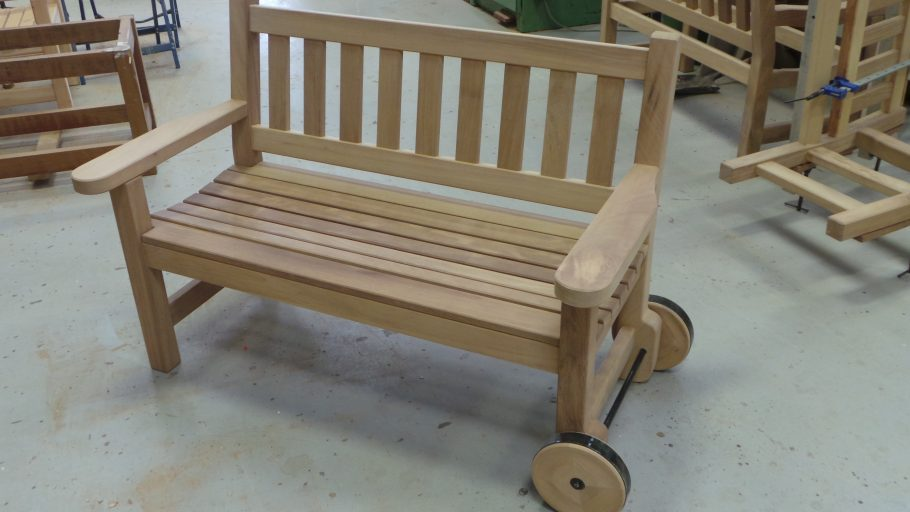York bench with wheels!