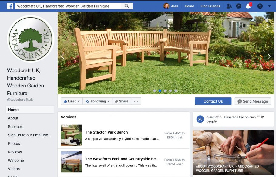 Woodcraft UK is now on Facebook and Twitter