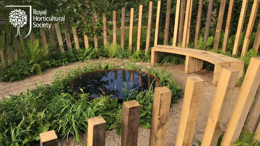 Woodcraft is featured in the Silver Gilt medal winner garden at the RHS Flower Show Tatton Park