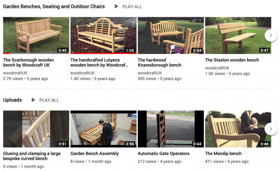 New Woodcraft UK Videos