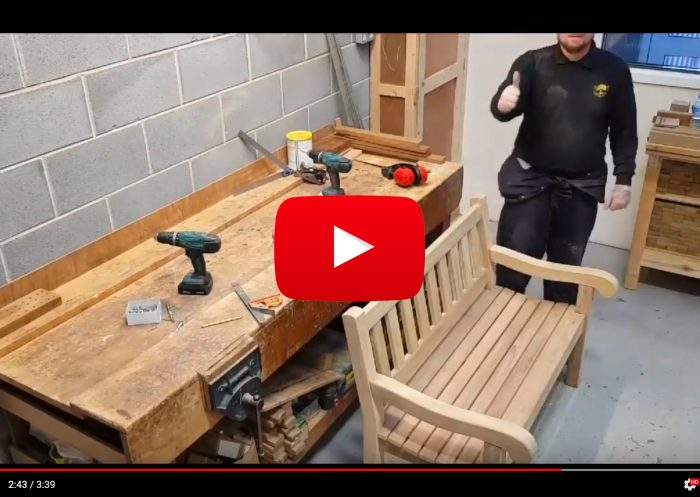 VIDEO - Mendip wooden bench assembly
