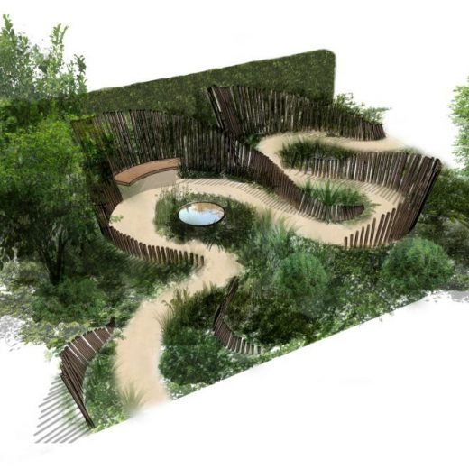 Artists impression of our bench in situ
