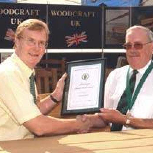 Michael Davidson receiving an award