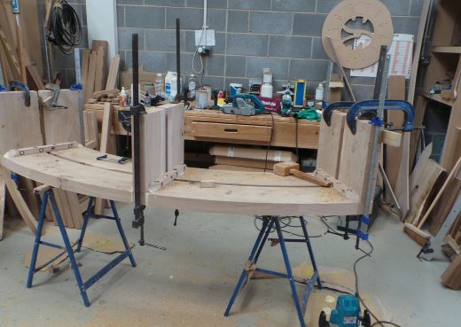 Calm in Chaos bench in clamps