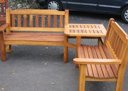 Special corner bench like the Helmsley garden bench