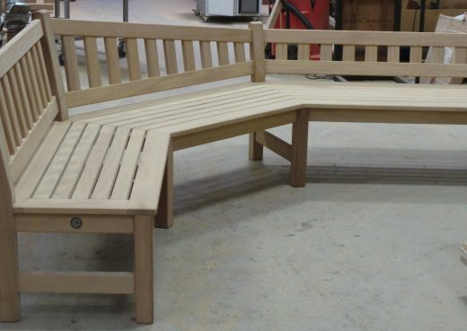 The garden bench almost complete