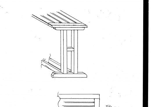 Wooden table CAD drawing