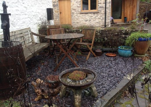 The old patio
