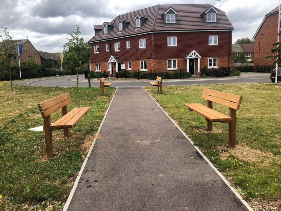Our Staxton Benches head to Badger Heights in Tangmere.