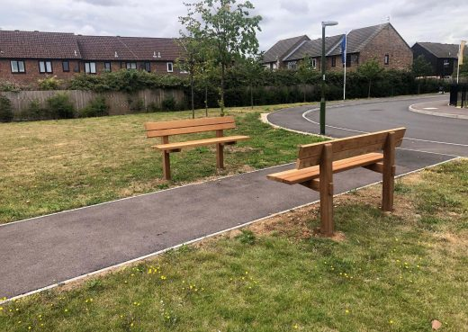 Staxton Benches at Badger Heights Tangmere