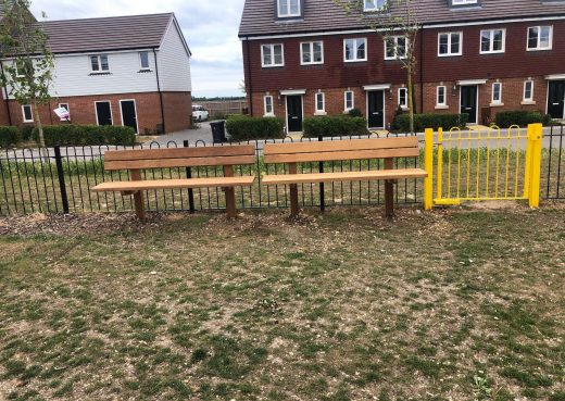 Staxton Garden Benches in the public space at Badger Heigths
