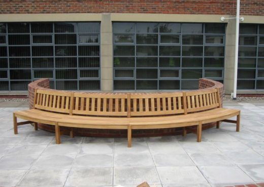 Curved street bench