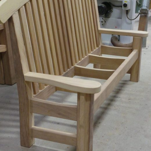 The Bute memorial bench ready for the seat to be added