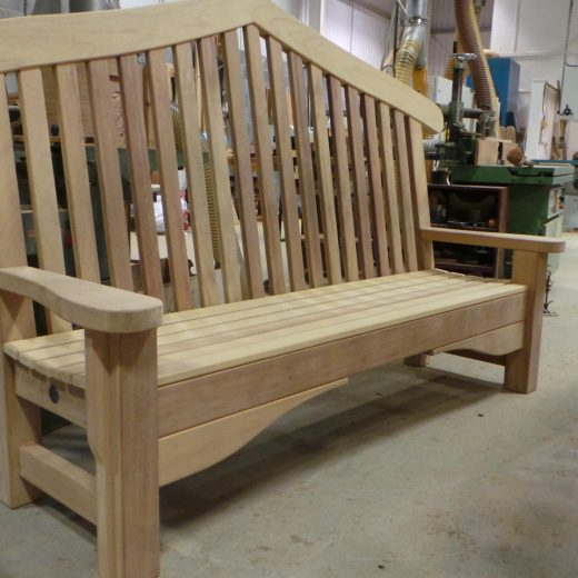 The completed Bute Memorial Bench