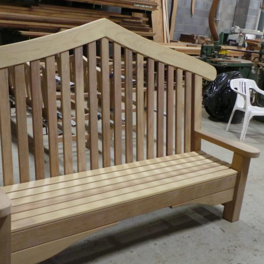 The Bute Memorial wooden bench