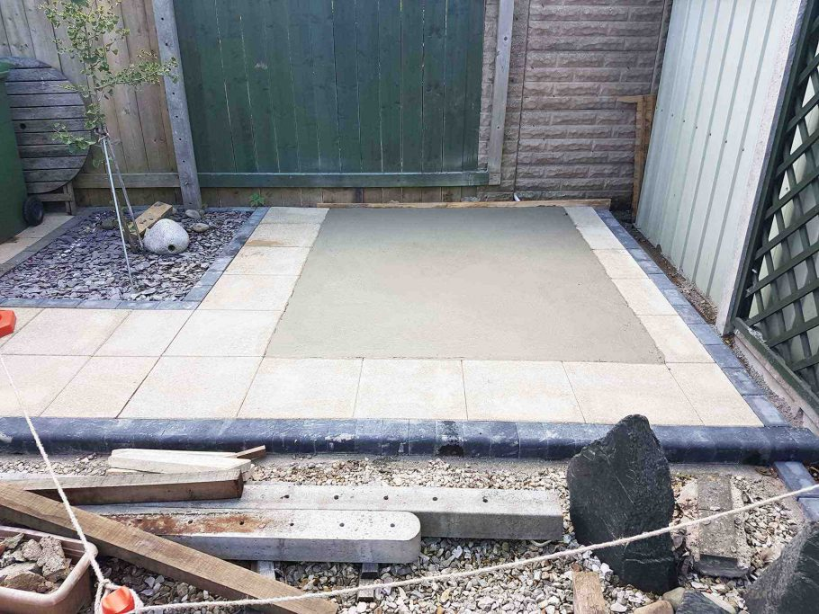 Concrete base for the Wooden Cabin