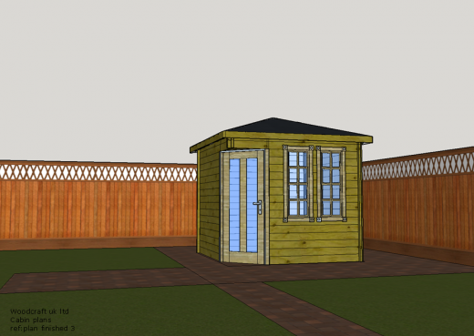 Artists impression of our garden cabin