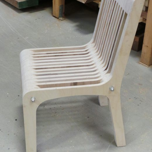Plywood Chair side view