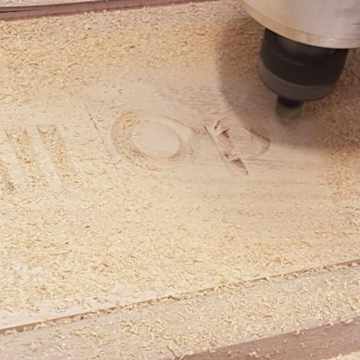 Our CNC machine can engrave any font