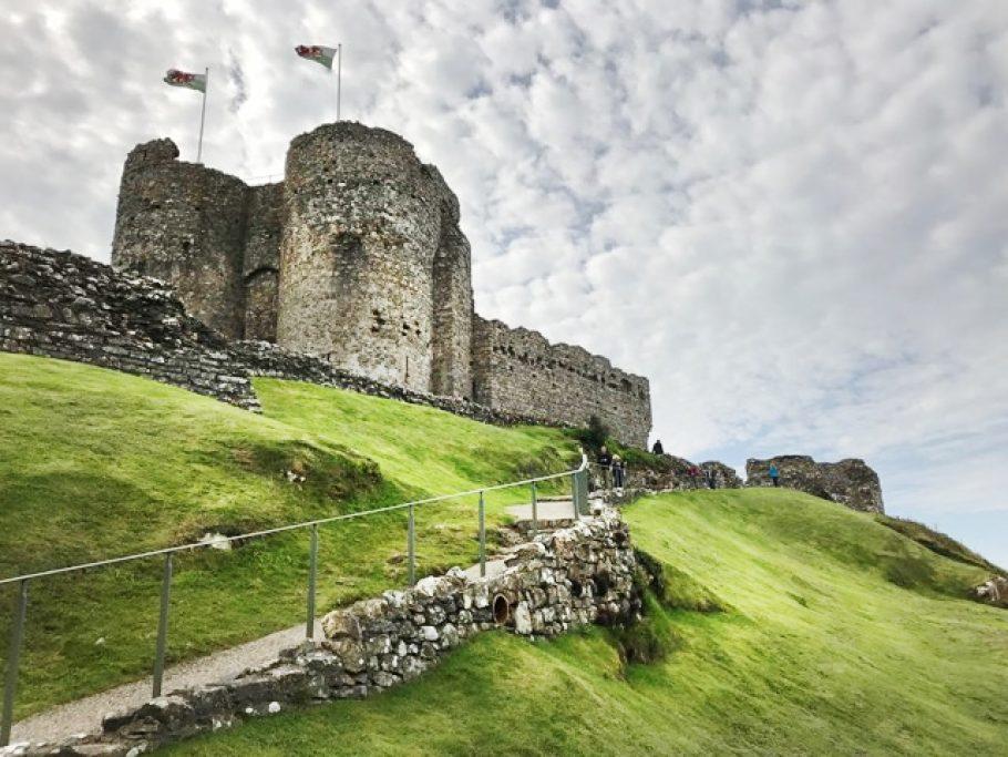 Criccieth Castle in North Wales