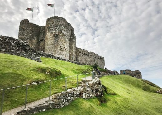 Criccieth Castle in North Wales