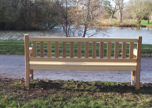 The back of the York Memorial Bench