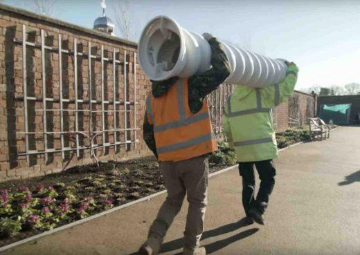 Hampton Court Palace Garden refurbishment